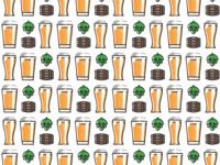 Beer pattern pattern design plant symbol label badge brewery branding craft beer type logo ipa illustration identity hops craft brew brand beer alcohol