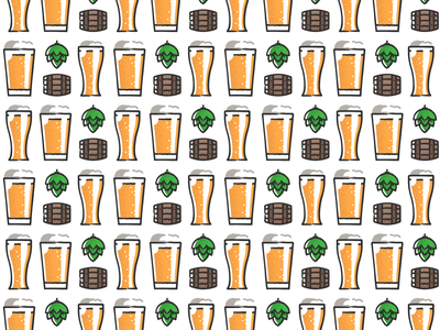 Beer pattern pattern design plant symbol label badge brewery branding craft beer type logo ipa illustration identity hops craft brew brand beer alcohol
