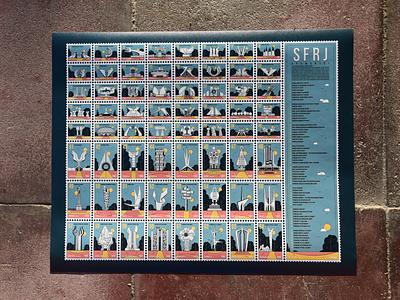SFRJ postmarks yugoslavia video travel symbol stamp slovenia sfrj serbia retro places montenegro macedonia landmarks icon set iconography design croatia buildings bosnia architecture