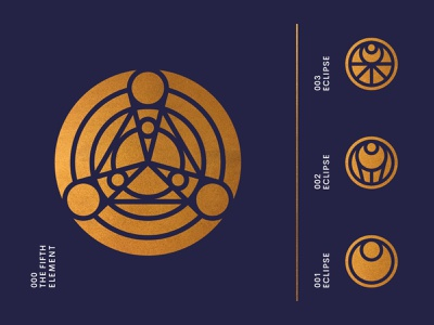 The Fifth Element marks web ui ux system stars star space eclipse rocket planet outerspace moon landing page icon set gradient galaxy discover cosmos abstract