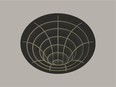 Black Hole unown time travel astral galaxy systems stars space texture grainy outline abstract black hole zone warp symbol logo gravity cone hole black