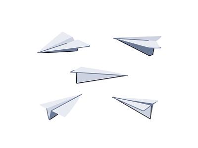 Paper Planes outline line art icon set icon wavey vector sky planes paper illustration flight design creative airplane aeroplane 2d