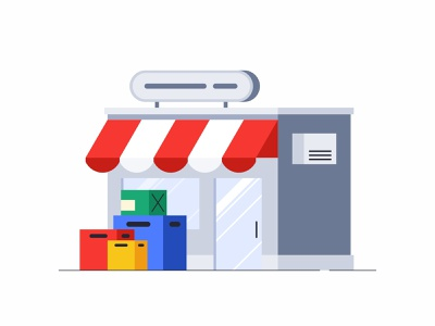 Shop web vector simple packaging outline shopping illustration icon set icons marketplace design store container shop branding boxes box market animation 2d