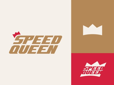 Speed Queen font vector shape girl female branding icon type logo identity illustration mark minimal crowns crown king queen princess royal royalty