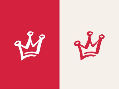 Red crown vector shape girl female branding icon type logo identity illustration mark minimal crowns crown king queen princess royal royalty
