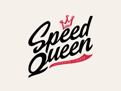 Speed Queen vector shape girl female branding icon type logo identity illustration mark minimal crowns crown king queen princess royal royalty