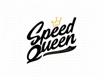 Speed Qeen sketch vector shape girl female branding icon type logo identity illustration mark minimal crowns crown king queen princess royal royalty