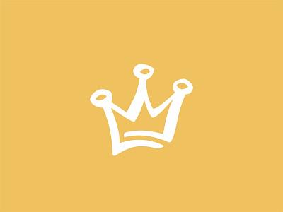Yellow crown vector shape girl female branding icon type logo identity illustration mark minimal crowns crown king queen princess royal royalty