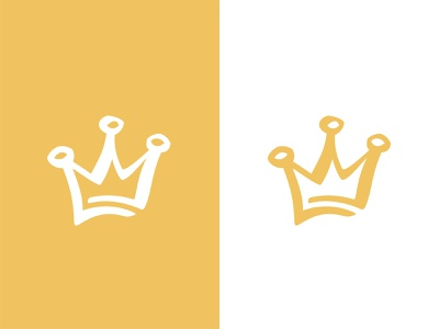 Yellow crown colour vector shape girl female branding icon type logo identity illustration mark minimal crowns crown king queen princess royal royalty