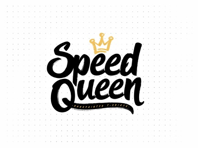 Speed Queen Yellow sketch vector shape girl female branding icon type logo identity illustration mark minimal crowns crown king queen princess royal royalty