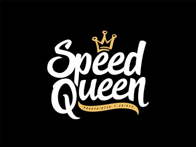 Speed Queen black vector shape girl female branding icon type logo identity illustration mark minimal crowns crown king queen princess royal royalty