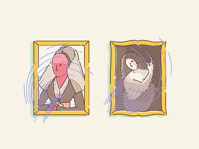 Portrait of a Lady & St. John the Baptist rogier van der weyden rogier van der weyden gallery framed paintings painting famous illustrator outline vector minimal illustration art museum digital icon set design icon iconography