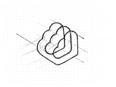Cloud sketch greed sketch servers speed symbol data mark logo branding minimal design identity brand icon cloud connect hosting startup clouds