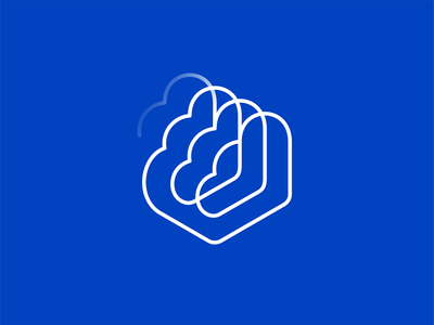 Cloud Infinity greed sketch servers speed symbol data mark logo branding minimal design identity brand icon cloud connect hosting startup clouds