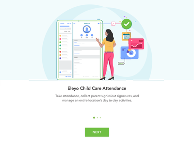 Eleyo card woman character alert app box branding card company design email icon illustration invite mail marketing message mobile ui ux web