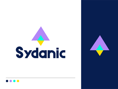 Sydanic typo font geometric consulting spaceship icon letter fly space rocket logo symbol mark identity typography logotype design illustration monogram branding