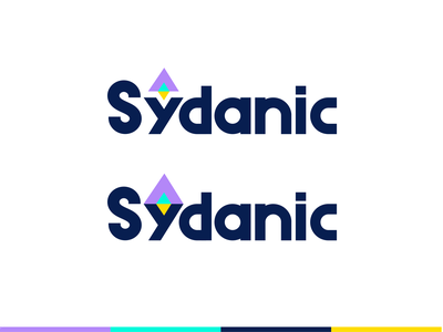 Sydanic typo font geometric consulting spaceship icon letter fly space rocket logo symbol mark identity typography logotype design illustration monogram branding