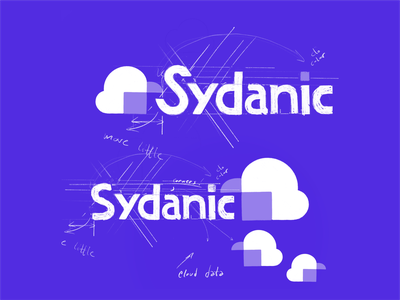 Sydanic sketch typo font geometric consulting spaceship icon letter fly space rocket logo symbol mark identity typography logotype design illustration monogram branding