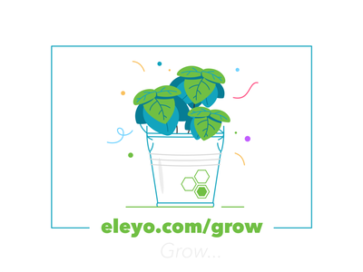 Eleyo Grow success successful flat outline natural graphic design design character nature plants illustration plant vegan eco bio greenery flower simple