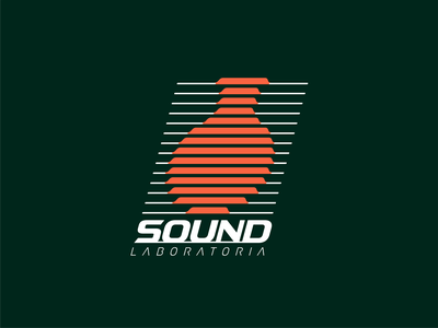 Sound Laboratoria Logo sound logotype identity typography monogram symbol logo mark line design branding erlenmeyer flask illustration illustrator scientist fiole laboratory science