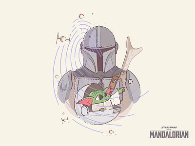 The Mandalorian syfy space imperial jedi lucasfilm c3po grogu illustration stormtrooper themandalorian yoda baby yoda bounty droids r2d2 star wars boba fett mandalorian mando