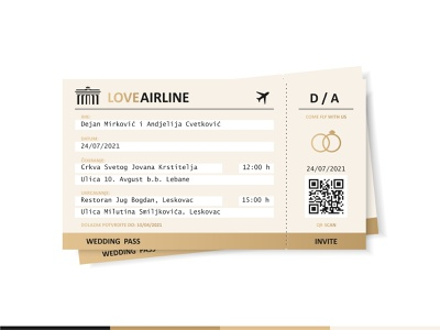 Wedding Invitation date booking branding plane travel pass airplane ticket marriage couple couples flying passport ring wedding invitations