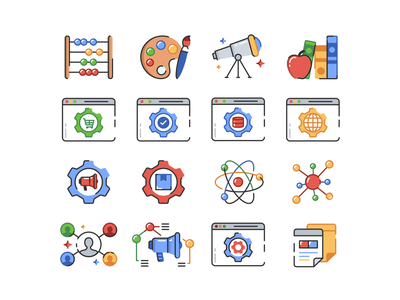 Blog icons blog vector abstract gradient icon transparent ui symbol concept app web icon set collection minimal future application design product iconography simple