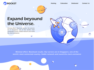 Extend beyond expand web ui ux planet star illustration icon vector logo technology spaceship rocket launch universe space spacex astronaut nasa