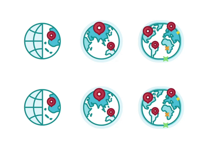 international world location place star startup icon set burger design level level up outline branding badge illustration animation win ui app achievement