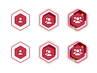 Followers Achievement user followers star startup icon set burger design level level up outline branding badge illustration animation win ui app prize achievement