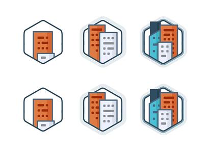 Expand Achievement building buildings city startup icon set design level level up outline branding badge illustration animation win ui app champion prize achievement
