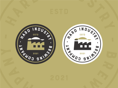 Brewing Industry Versions hoppy ipa brew vintage symbol craft hops craft beer brewery beer brand logo badge type typography factory building icon industrial