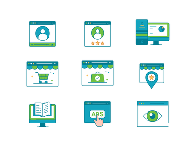 Icons set no.1 simple iconography product design application future minimal collection icon set web app concept symbol ui transparent icon gradient abstract vector
