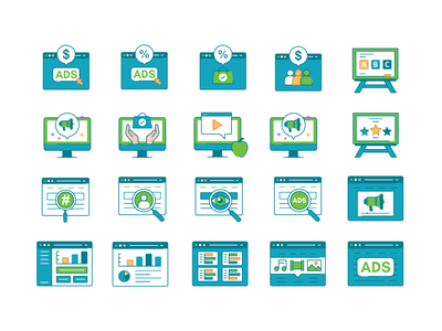 Icons set No.2 simple iconography product design application future minimal collection icon set web app concept symbol ui transparent icon gradient abstract vector