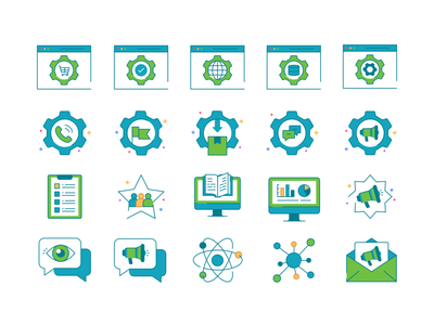 Icons set No.4 simple iconography product design application future minimal collection icon set web app concept symbol ui transparent icon gradient abstract vector