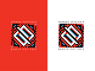 Neopix Etno slavic serbia logo etno branding pattern traditional shapes abstract simple brand identity symbol geometric flat modernist icon design illustration vector