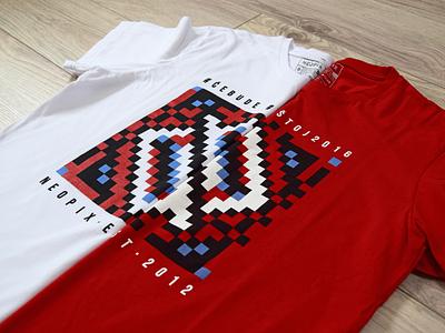 T-Shirt Rajski Konaci slavic etno pattern traditional abstract identity geometric flat symbol mark logo brand branding illustration design mocup