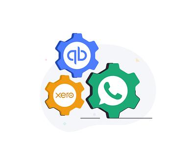 Automation social data ui ux cloud web message chat ux branding ui outline logo line vector icon design illustration