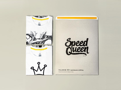 Speed Queen gold royality royal princess qeen king crown minimal mark illustration identity logo type icon branding female girl shape mocup vector