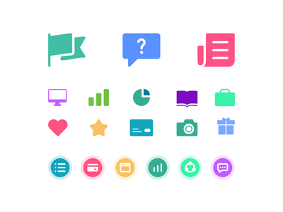 Eleyo blog icons simple minimal collection illustration design product cards iconography aplication symbol icon set icons web ux ui vector branding brand flat outline