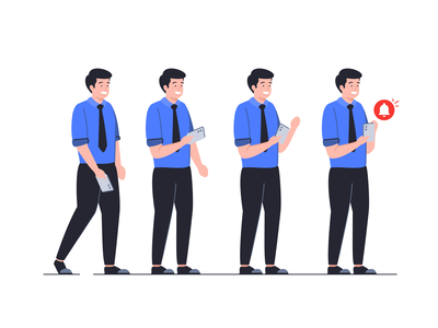 Character set cute 2d shape team people face icon set illustration design flat outline peoples man woman workers notification mobile technology message colorful
