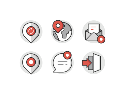 TBC Icons flat outline design illustration branding web interface screen ui ux user exit location chat message symbol mark icon set icons