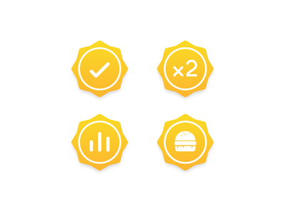 Gold Icons web illustration design medals medal honorable honor award flat icon set icon icons branding brand cheesburger burger notification data statistic gold
