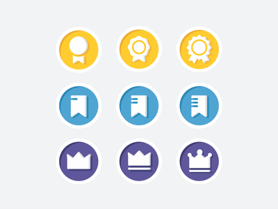 Icon update stripe crown update honor review app collection achievements ui ux interface web symbol design illustration icon set icons icon brand branding