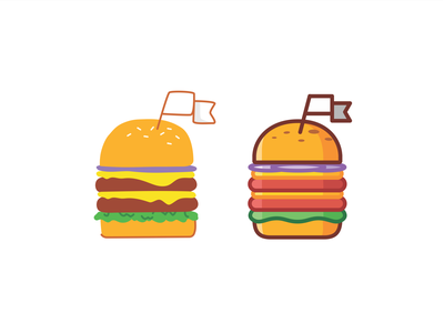 Burger icons fast food delicius icon set icons leveling vector animation minimal line illustration food achivements cheesburger badge burger american meat