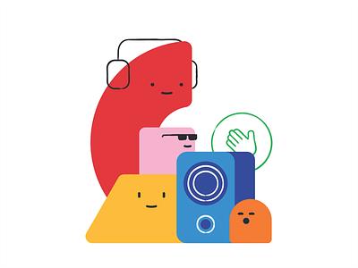JBU Hello cartoon mascote vector social media emoticons emoji bubble icon design illustration chat message characters cute branding emoji set sound music