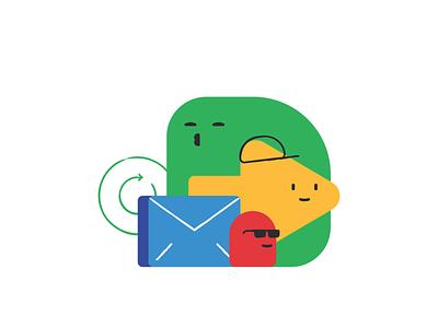 JBU Message video cartoon mascote vector design illustration social media emoticons emoji face cute bubble icon icon set cloud branding flat chat message