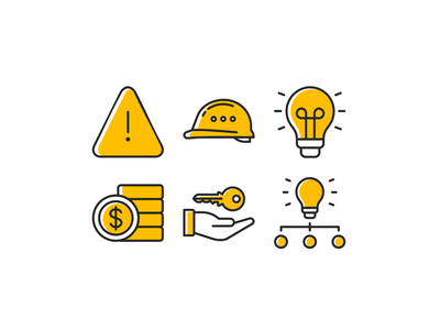 Yellow Icon set icon system essential packing pack line outline branding vector iconset sketch figma ui ux web icon set illustration iconography app icons design icon