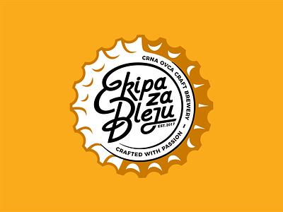 Beer cap font typface type typo letters mark ux ui logo line icon set branding vector icon design illustration craft beer craft cap beer cap