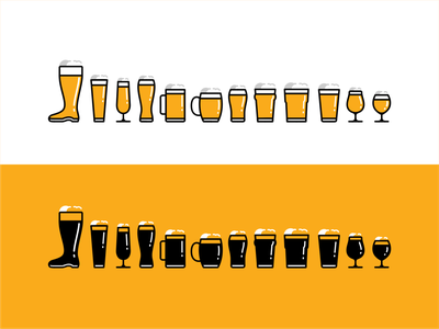 Beer glass typograpgy letters typface font typo beer glass glass craft beer craft beer ux ui logo line icon set branding vector icon design illustration
